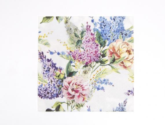 Bahar Çiçekleri Desenli Peçete