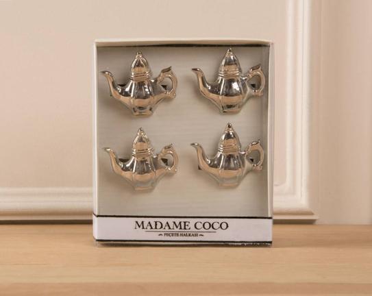 4lü Çaydanlık Figür Peçete Yüzüğü
