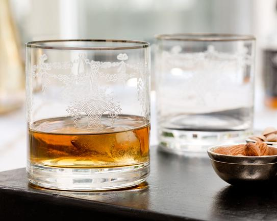 Diana 6'lı Viski Bardağı - Platin