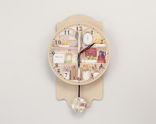 Dekoratif Sarkaçlı Duvar Saati 50cm