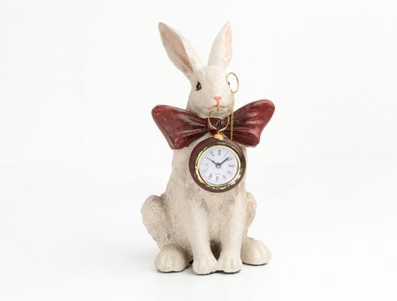 Tavşan Figürlü Masa Saati