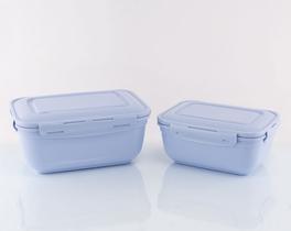 Dikdörtgen Saklama Kabı Mavi 4000-2300ml