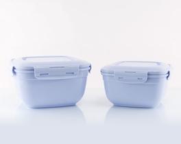 2'li Kare Saklama Kabı - Mavi