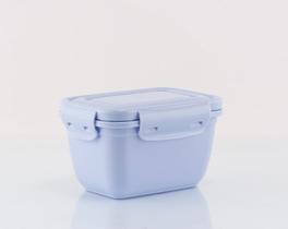 Dikdörtgen Saklama Kabı Mavi 550ml
