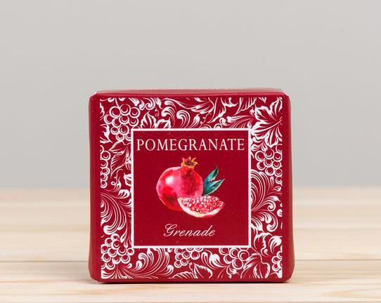 Meyve Serisi Kare Nar Aromalı Katı Sabun 50gr