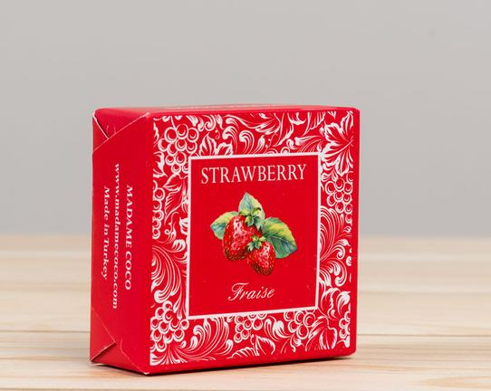 Meyve Serisi Kare Çilek Aromalı Katı Sabun 50gr