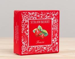 Meyve Serisi Kare Çilek Aromalı Katı Sabun 100gr