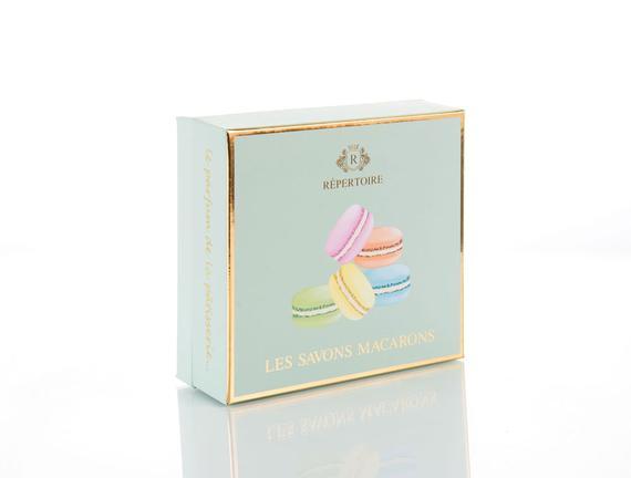 Katı Sabun - Macaron Set 6x50 g (Mavi Kutu)