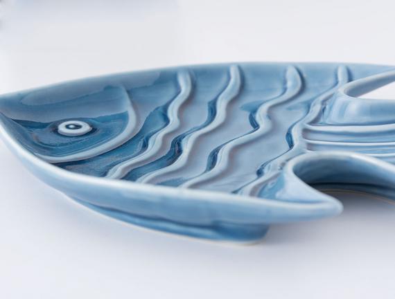 Porselen Balık Tabak