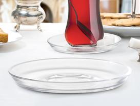 Lydia 6lı Kristal Çay Tabağı Seti