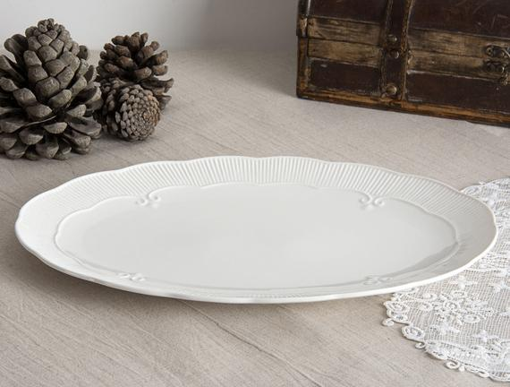 Baroque New Bone China Oval Tabak