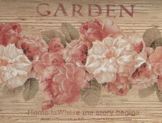 Çiçek Desenli Dikdörtgen Tepsi