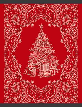 Sapin Çift Kişilik Pamuklu Battaniye Kırmızı / Antrasit