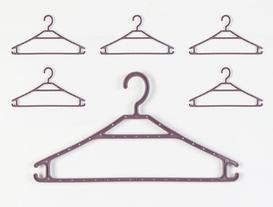 6lı Elbise Askısı - Koyu Mürdüm