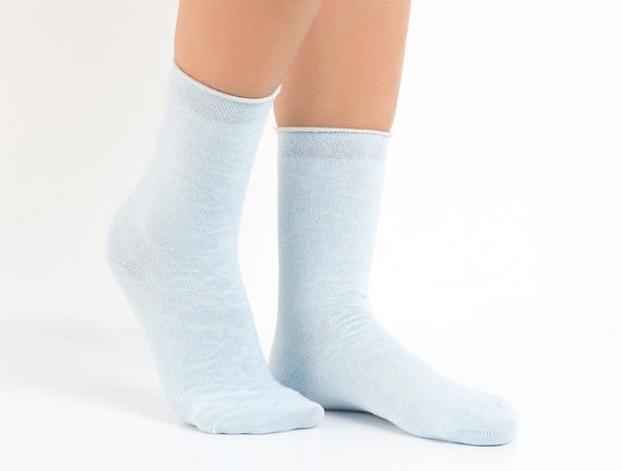 Jakar Baskılı Kadın Çorabı - Mavi