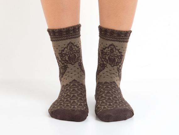 Bayan Kabartma Soket Çorap