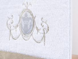 Dijital Baskılı Nakışlı Havlu 30x46cm - Beyaz