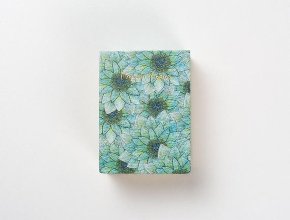 Mavi Çiçekli Bloknot