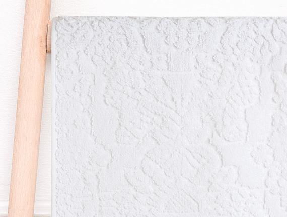 Jakarlı Havlu 30x45cm - BEYAZ