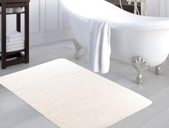 Banyo Halısı 100x150cm - Ekru