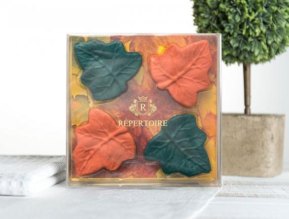 RÉPERTOIRE Dekoratif Katı Sabun 4x30 g Yaprak Figürlü