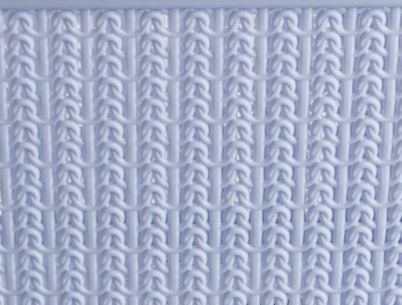 Örgü Desenli Sepeti - Mavi