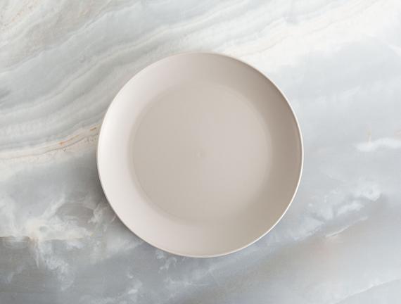 4'lü Yuvarlak Pasta Tabağı - Taş