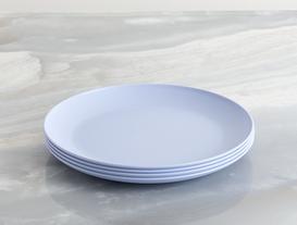 Yuvarlak Pasta Tabağı Mavi
