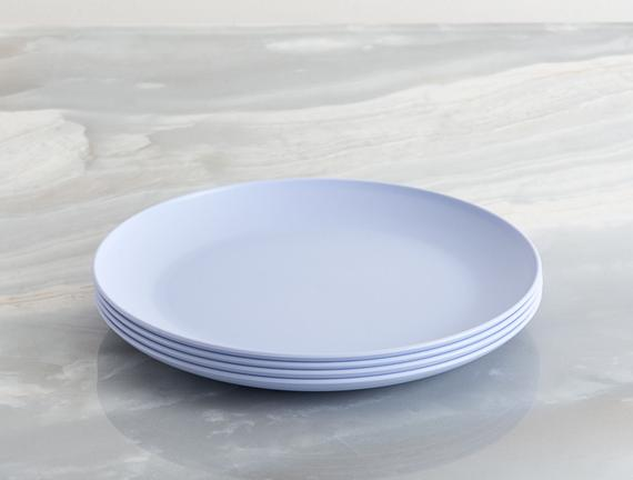 4'lü Yuvarlak Pasta Tabağı - Mavi