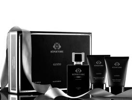 RÉPERTOIRE  Erkek Parfüm Seti Duş Jeli 100 ml + Eau de Parfum 100 ml + Traş Sonrası Balsam 100 ml Gusto