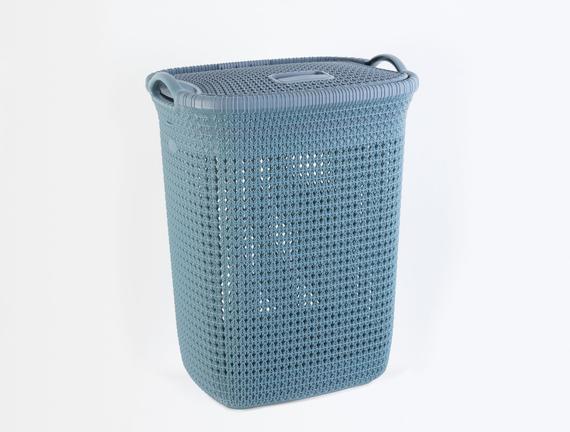 Kapaklı Çamaşır Sepeti - İndigo