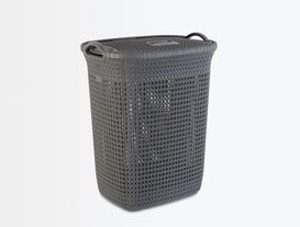 Kapaklı Çamaşır Sepeti - Antrasit