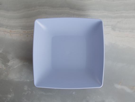 4'lü Kare Yemek Tabağı - Mavi