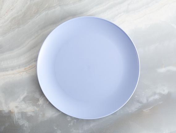 4'lü Yuvarlak Servis Tabağı - Mavi