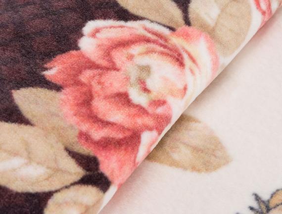 Çift Kişilik Baskılı Battaniye 200x240cm - Bej/Kırmızı
