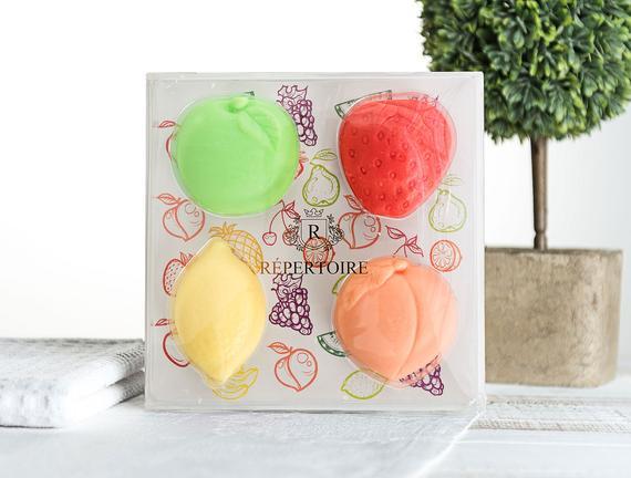 Meyve Figürlü 4'lü Kokulu Dekoratif Sabun