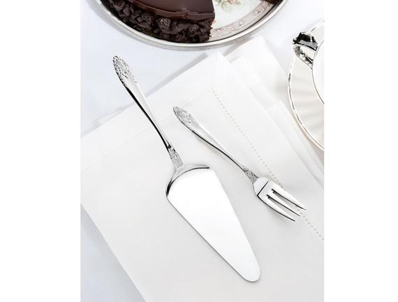 Bouquet 6'lı Tatlı Çatalı ve Pasta Kürek Seti