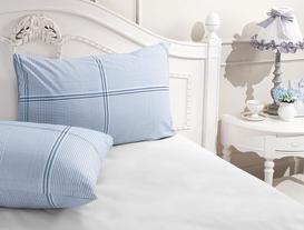 Yastık Kılıfı - Ranforce - Mavi/Lacivert