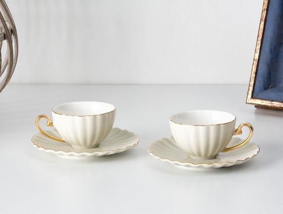 Shelley 2'li Kahve Fincanı Seti - Gri