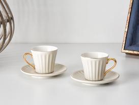 Novel 2'li Kahve Fincanı Seti - Gri