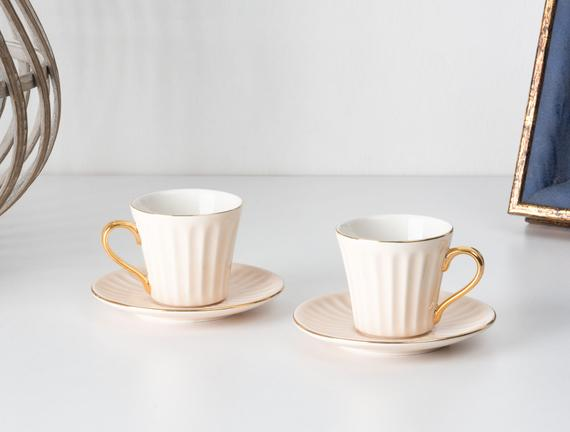 Novel 2'li Kahve Fincanı Seti - Pembe