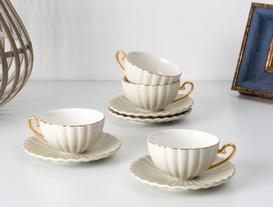 Shelley 4'Lü Çay Fincanı Seti