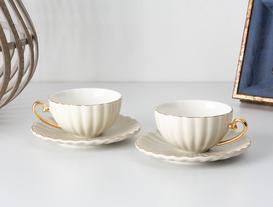 Shelley 2'li Çay Fincanı Seti - Bej