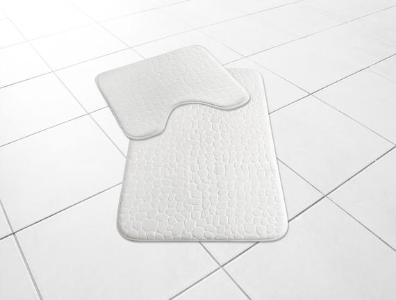 Banyo Paspas Takımı - Ekru