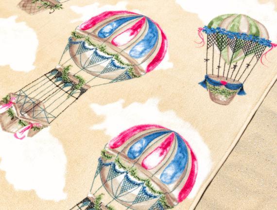 Balon Desenli Plaj Havlusu - Toprak - 70x160 cm