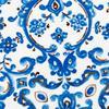 Otantik Desenli Plaj Havlusu - Mavi