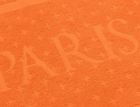 Paris Figürlü Plaj Havlusu - Turuncu - 80x140 cm