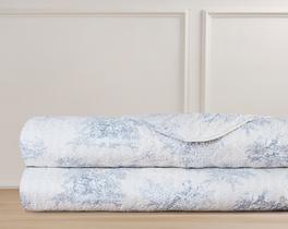 Vendome Çift Kişilik Yatak Örtüsü - Mavi