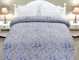 Tek Kişilik Yatak Örtüsü - Mavi / Taş