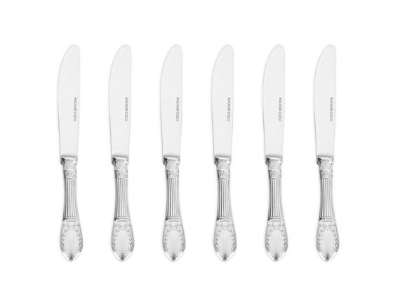 Le Papillon 6'lı Tatlı Bıçağı Seti - Gümüş